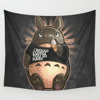 cuddle Wall Tapestries featuring CUDDLE MONSTER by Tim Shumate