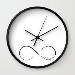 Infinity and beyond minimalistic symbol Wall Clock