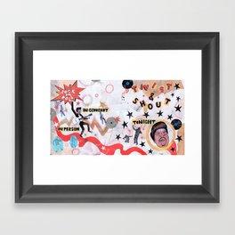 Rock & Roll! Framed Art Print