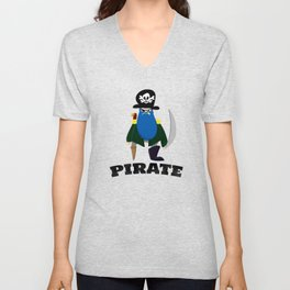 Bluebeard the Pirate, Scourge of the Seven Seas Unisex V-Neck