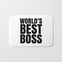 WORLD'S BEST BOSS Bath Mat