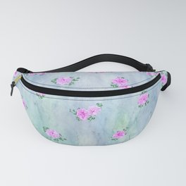 Petunias over Blue and Green with Scalloped Border Fanny Pack