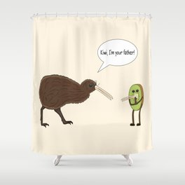 Kiwi, I'm your father Shower Curtain