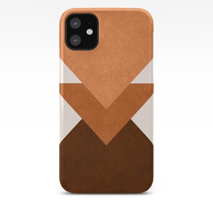 Geometric Blocks in Terracotta iPhone Case
