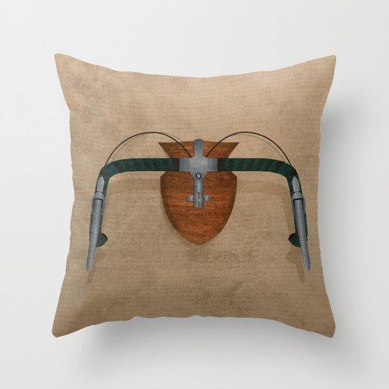 Bike Hunter Throw Pillow
