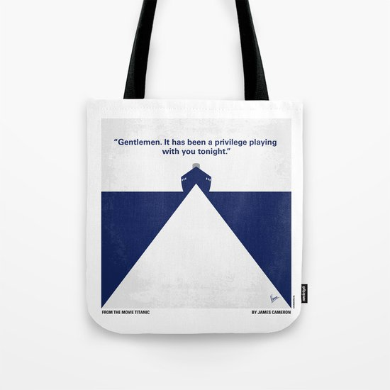 No100 My Titanic minimal movie poster Tote Bag