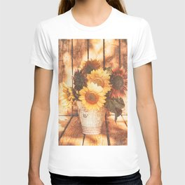 Country Style Sunflowers T-shirt