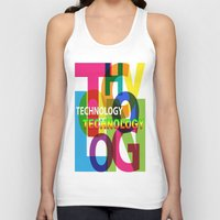 technology Tank Tops featuring Creative Title : TECHNOLOGY by Don Kuing