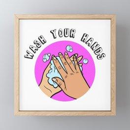 Wash Your Hands Framed Mini Art Print