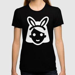 bunny ear girl emoji T-shirt