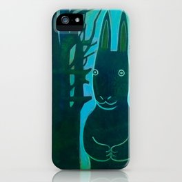 Rabbit in the Woods iPhone Case