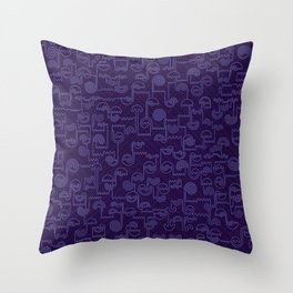 Nocturnal House Throw Pillow