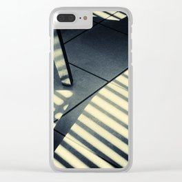 Shadow Slit Abstract Clear iPhone Case