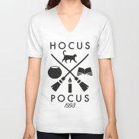 hocus pocus V-neck T-shirts featuring Hipster Hocus Pocus by Designed4dis