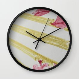 gift wrap intervention 02 vertical Wall Clock