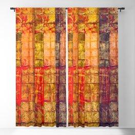 no. 235 pink orange brown red yellow gold pattern Blackout Curtain