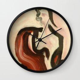 Woman in Sari Wall Clock