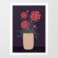 Red Carnations Art Print