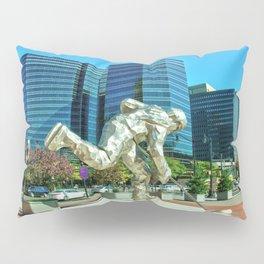 Newark Skating Sculpture Pillow Sham