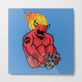 Satan Rollin' Metal Print