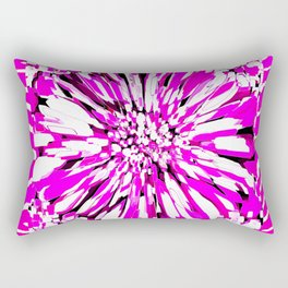 Zebras and Dahlias Pink and White Abstract Rectangular Pillow