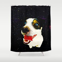 jack russell terrier dog space crazy va Shower Curtain