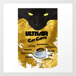 Ulthar Cat Caffe Art Print