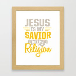 Jesus is Redeemer and Savior Framed Art Print