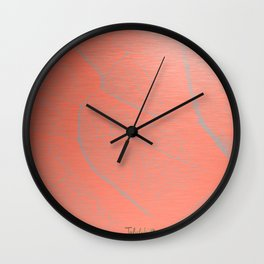 Orange Fall Wall Clock
