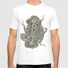 Deadliest Catch MEDIUM White Mens Fitted Tee