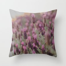 Lavender Stories Throw Pillow