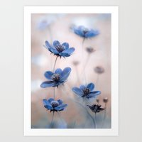 cosmos Art Prints featuring Cosmos by Mandy Disher