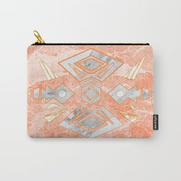 Sweet Pink Marble Design Carry-All Pouch