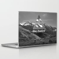 new zealand Laptop & iPad Skins featuring New Zealand by ztwede