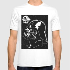 Pug Vader LARGE White Mens Fitted Tee