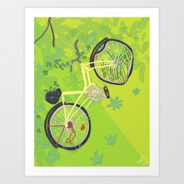 Busted Bike Art Print