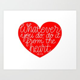 From the Heart Art Print