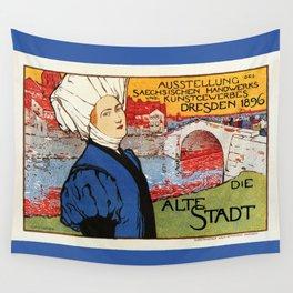 German artisanal art expo Dresden 1896 Wall Tapestry