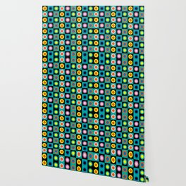 cool vintage abstract pattern Wallpaper
