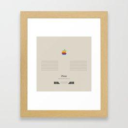 iPhone Macintosh retro design Framed Art Print