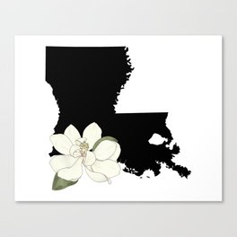 Louisiana Silhouette Canvas Print