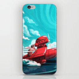 Porco Rosso iPhone Skin