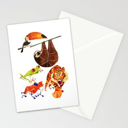 Rainforest animals 2 Stationery Cards