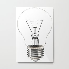 I Have an Idea!  Let there be light... Metal Print