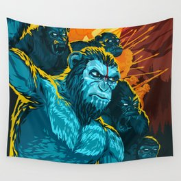 Dawn Of The Planet Of The Apes Wall Tapestry