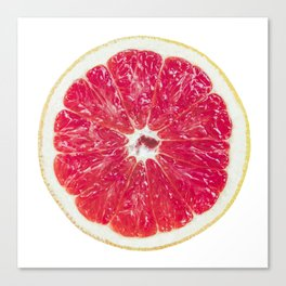 Half Grapefruit Canvas Print