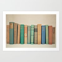 literary Art Prints featuring Literary Gems I by Laura Ruth