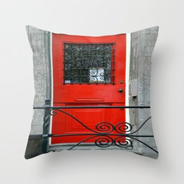 Door Series - Red Door Throw Pillow