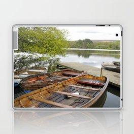 Boats on Wyresdale Lake, Scorton Laptop & iPad Skin