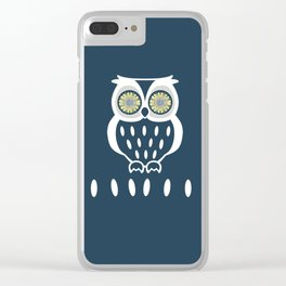 Bright Eyed Owl Clear iPhone Case